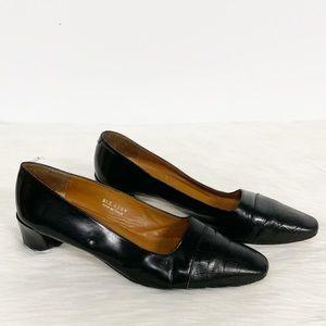 Ralph Lauren | Black Leather Almond Toe Heel 9B